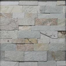 Златолит серо-бежевый каменная полоска